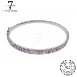 OEM Custom Fashion 925 Joyería de Plata par Bangle