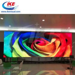 Círculo de bajo consumo de energía de pared LED de forma curvada para arreglar la instalación móvil de pared de vídeo digital LED