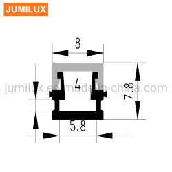 Mini LED en aluminium Profil