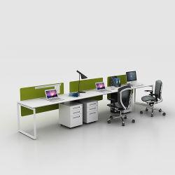 3人ワークステーションのための最新の商業現代デザインモジュラーオフィス表モデルオルガナイザーの机のオフィス