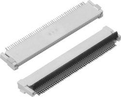 Connettore FPC, passo da 0,5 mm, materiale del contatto: Bronzo fosforoso