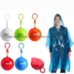 Plastic Promotioneel Gift Customer Logo Printed Disposable Poncho Ball