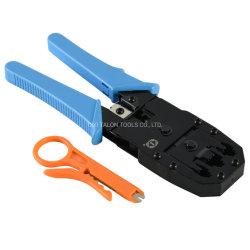 Pinza a crimpare per connettori modulari Hand Network per 3 in 1 Crimpatura/strisce/taglio
