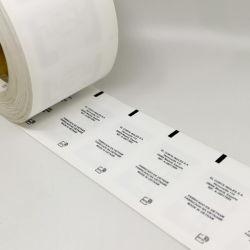 Impressão personalizada à prova de água de lavagem de RFID Etiqueta para acessórios de vestuário