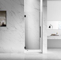 Venda por grosso Novo Design Preto Pé na sala úmida de vidro temperado chuveiro de dobradiça do ecrã