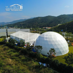 Grande 50m Domes Evento Geodésico Esfera Meia tenda para Outdoor