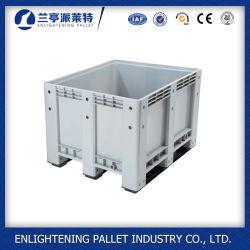 1200*1000*760mm boîte de palettes en plastique de type solide