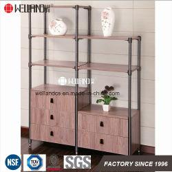 China Fabricação DIY Sala Mobiliário Steel-Wooden de exibição