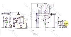 3200 unique cylindre papier de soie Making Machine papier de toilette de l'équipement