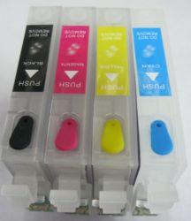 T1281-T1284 128 Cartouche d'encre rechargeables pour Epson S22 SX125 Sx130 SX235W SX420W SX425W SX435 445 BX305f Les imprimantes avec des puces d'Arc