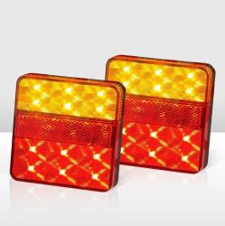12VはLEDのトラック、ユート語、トレーラー、キャラバン、キャンピングカー、バス、バン等のための後部テールライトランプブレーキ警報灯を防水する