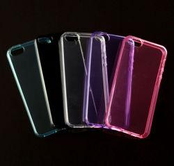 Anti couverture transparente en baisse ultra-mince de cas du téléphone mobile TPU avec des points à l'intérieur pour le cas 6s de l'iPhone 6 de l'iPhone 5/5se