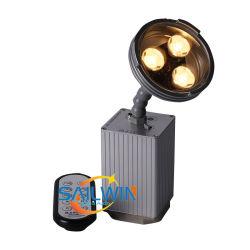CREE LED 3x3W 9W Pinspot lumière alimentés par batterie Sans fil