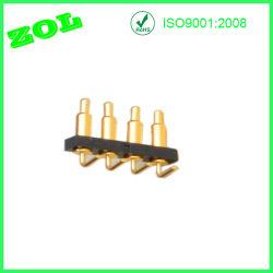 Connettore di Pin personalizzabile ad angolo retto di 4 Pin Pogo