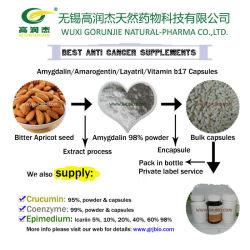 Anti Cancro amarga semente de Damasco Extraia Amygdalin B17 em pó 500mg
