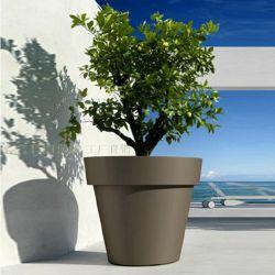 Round Fiberclay semoir pour l'aménagement paysager de jardin