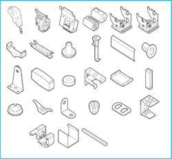 componenten van het Profiel Profile&Low van 50mm de Hoge