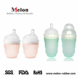 150-250ml 자연적인 젖꼭지 연약한 실리콘 아기 공급 병