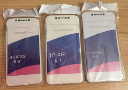 IPhone Xs Max обратно переднюю крышку в полном объеме TPU телефон чехол