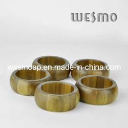 Ustensiles de cuisine écologique Bamboo Ronds de Serviette (WTB0315A)