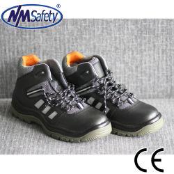Nmsafety Cuero Cuero de alta calidad de corte medio Calzado de seguridad