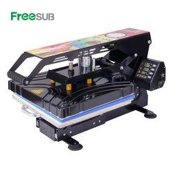 Freesub 자동적인 열려있는 38*38 t-셔츠 열 압박 기계, 이동 기계를 인쇄하는 평상형 트레일러 열