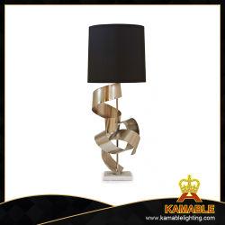 Projet de base de marbre Lampes de table de chevet en acier inoxydable (MT0001)