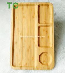 Les plaques de bambou plateaux rectangulaires écologique