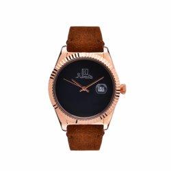 Edelstahltasche Aus Echtem Leder mit Calendar Fashion Armbanduhr