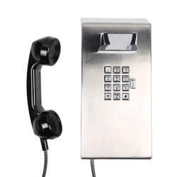 IP65 à prova de vandalismo na prisão de aço inoxidável telefones usados nas áreas de visitação prisional, dormitórios, salas de controle, Sallyports, Gate e entradas.