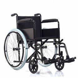 Opvouwbaar stalen handbediende rolstoel met poedercoating