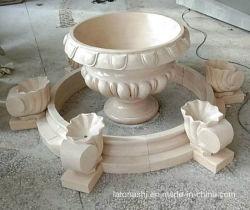 De Grote Vaas van de Bloem van de Steen van de tuin met Marmeren Vaas