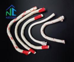 Zibo Nature, la Chine usine la corde de fibres de céramique d'alimentation 1260C 550kg/m3, la stabilité thermique ignifuge Corde d'étanchéité de porte de four de la laine minérale de la corde matériau réfractaire