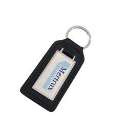 ステンレス鋼の版(Ele-K050)とのカスタマイズされた革Keychain