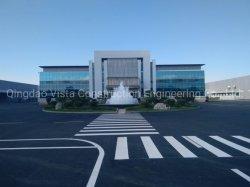 Cortina de parede de vidro edifícios de estrutura de aço de alta qualidade para o Office