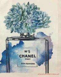 Современные Шанель бутылок акварель картины маслом для интерьера