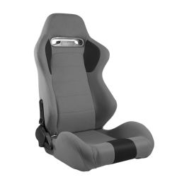 Tipo Universal Car Racing do assento de couro PU preto da Caçamba Totalmente Inclinável Racing Seat