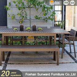 Hôtel moderne de plein air Accueil personnalisé Le restaurant Villa aluminium Président et de table patio du jardin Banc de salle à manger