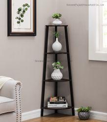 Coin industrielle étagère 5 étagère rack de stockage de niveau Peuplement Accent meubles en bois rustique avec cadre en métal