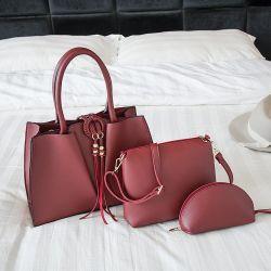 La tendencia de Corea del niño y la Madre de cuero de PU Three-Piece bolsos bolsos de mujer