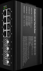 8*1000base-X Gigabit Schakelaar, de Industriële Ethernet Poe Schakelaar van 8*10/100/1000base-T