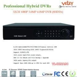 O HDMI 32CH Ahd carro DVR Standalone CCTV DVR 8 hdds móvel