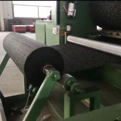 Gimnasio alfombrilla de caucho EPDM de rodillo Máquina para pelar los residuos de polvo de neumático Material