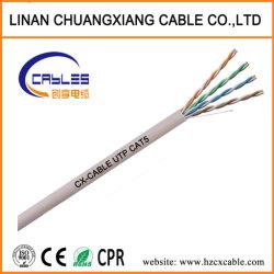 ネットワークケーブル24AWG UTP Cat5の有線通信ケーブルの銅線LANケーブルのパスの肝蛭テスト
