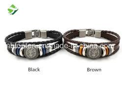 Vintage personalizado Punk bracelete de couro