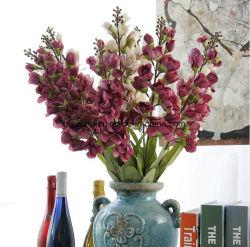Plantas artificiales otoño lirio del valle Cheap Flores artificiales para la decoración de bodas Valle en el vaso para el hogar decoración Centro