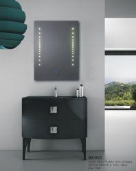 Серебряный декор Стены ванной комнатой под руководством мебель туалетный столик Smart стекло наружного зеркала заднего вида