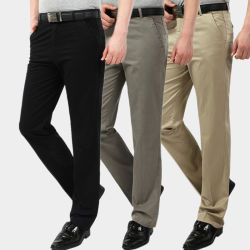 La fabricación de OEM de desgaste de la Oficina de Negocios de moda los pantalones pantalones de tela de nylon adecuado para los hombres