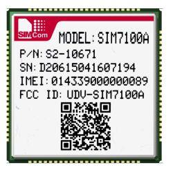 Un tipo de SIM7100Lcc inalámbrica 4G para el módulo de ATM/POS/Router y el uso de vehículos