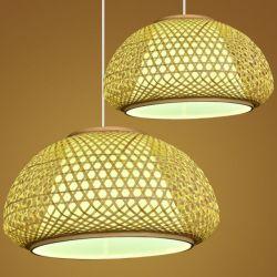 Lámpara de araña de bambú sombras